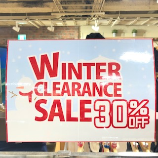 【吉祥寺店】OUTDOOR WINTER CLEARANCE SALE 30%OFF