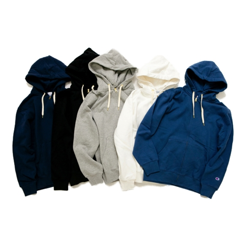 EMBROIDARY FULL ZIP HOODED SWEAT SHIRT