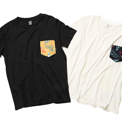 STORMY FLOWER POCKET TEE