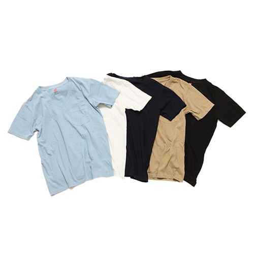 V-NECK T-SHIRT WITH POCKET