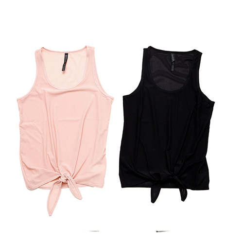 CARINA MESH TIE FRONT TANK