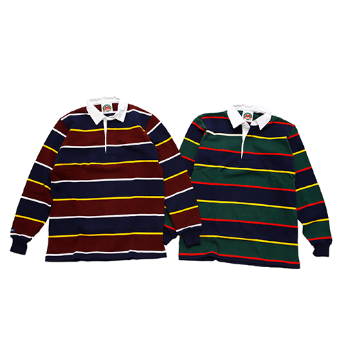 "RUGBY SHIRT L/S 3"" TWO COLOUR STRIPE"