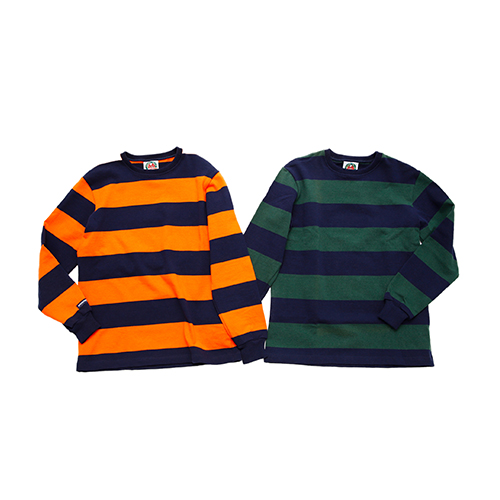 "HW CREW NECK L/S 3"" TWO COLOUR STRIPES"