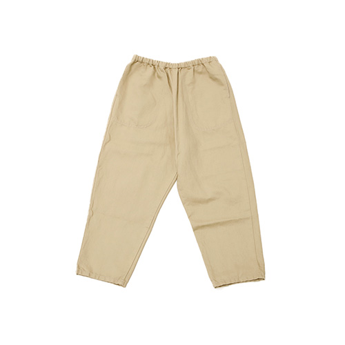 COTTON LINEN TWILL EASY PANTS