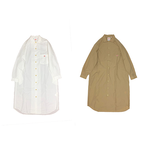 COTTON POPLIN SOLID L/S SHIRTS ONEPIECE
