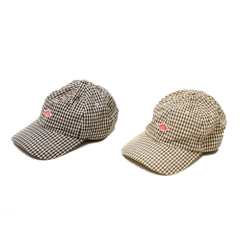 COTTON GINGHAM CHECK DAD CAP