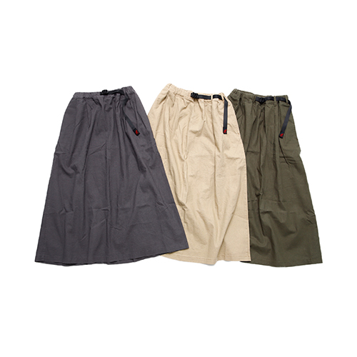 LINEN COTTON WS LONG FLARE SKIFT