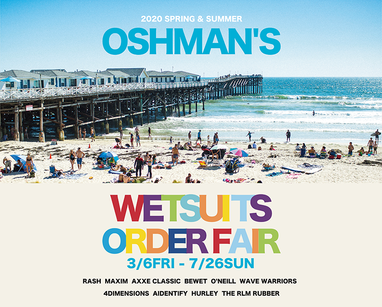 OSHMAN'S 2020 SPRING & SUMMER WETSUITS SELECTION